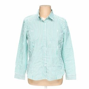 Van Heusen Women's Striped Button Up Shirt Size XL